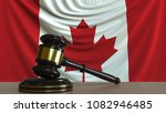 judge's gavel and block against ... | Shutterstock . vector #1082946485