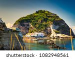 sunshades on beach of ischia... | Shutterstock . vector #1082948561