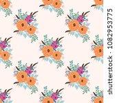 boho seamless floral pattern... | Shutterstock .eps vector #1082953775