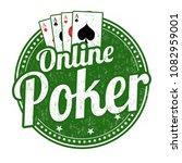 online poker grunge rubber... | Shutterstock .eps vector #1082959001
