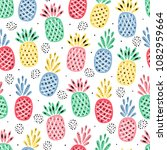 fruit vector background with... | Shutterstock .eps vector #1082959664