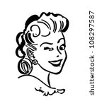 Winking Gal   Retro Clipart...