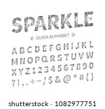 uppercase regular display font... | Shutterstock .eps vector #1082977751