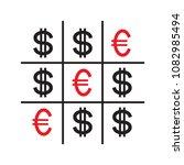 tic tac toe money concept.... | Shutterstock .eps vector #1082985494