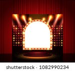 shining retro arch banner on...