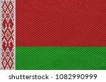 belarus flag printed on a... | Shutterstock . vector #1082990999