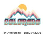 colorado retro tee design | Shutterstock .eps vector #1082993201