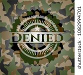 denied on camouflaged texture | Shutterstock .eps vector #1082994701