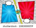 comic book versus template... | Shutterstock .eps vector #1083000059
