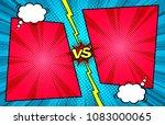 comic book versus template... | Shutterstock .eps vector #1083000065