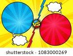 comic book versus template... | Shutterstock .eps vector #1083000269