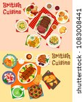 british cuisine icon set with... | Shutterstock .eps vector #1083008441