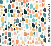 trendy terrazzo scribbles... | Shutterstock .eps vector #1083010295