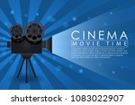 cinema background  movie time... | Shutterstock .eps vector #1083022907