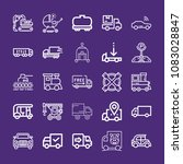 set of 25 transport outline... | Shutterstock .eps vector #1083028847