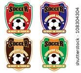 vector soccer badge   vector... | Shutterstock .eps vector #108304304