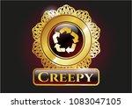 golden badge with recycle... | Shutterstock .eps vector #1083047105