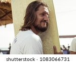 portrait of a young man on the... | Shutterstock . vector #1083066731