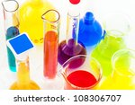chemical flasks with color... | Shutterstock . vector #108306707
