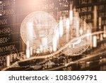 modern way of exchange. bitcoin ... | Shutterstock . vector #1083069791