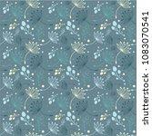 cute botanical vector seamless... | Shutterstock .eps vector #1083070541
