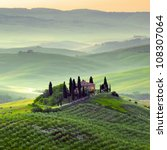 early morning on tuscany ... | Shutterstock . vector #108307064