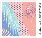 scarf floral motifs leaves and... | Shutterstock .eps vector #1083075854