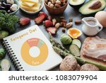 keto nutrition diagram ... | Shutterstock . vector #1083079904
