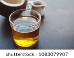mct oil  coconut healthy oil | Shutterstock . vector #1083079907