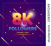 8k or 8000 followers thank you... | Shutterstock .eps vector #1083095249