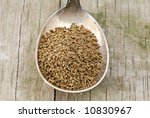 celery seed in a tarnished... | Shutterstock . vector #10830967
