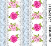 seamless pattern of pink... | Shutterstock .eps vector #1083098864