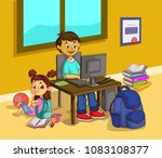 back school vector for banner... | Shutterstock .eps vector #1083108377