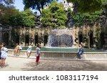 villa d'este tivoli  italy  ... | Shutterstock . vector #1083117194