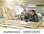 wood industry technicians...   Shutterstock . vector #1083118241
