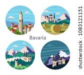 bavaria  germany. beautiful... | Shutterstock .eps vector #1083121151