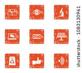 scientific cognition icons set. ... | Shutterstock .eps vector #1083130961