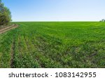 panoramic view of endless field ... | Shutterstock . vector #1083142955