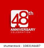 48 years anniversary logo with... | Shutterstock .eps vector #1083146687