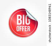 big offer shopping vector... | Shutterstock .eps vector #1083148961