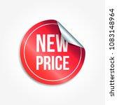 new price shopping vector... | Shutterstock .eps vector #1083148964