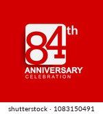 84 years anniversary logo with... | Shutterstock .eps vector #1083150491