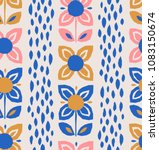 seamless pattern with flowers... | Shutterstock .eps vector #1083150674