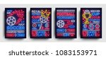 soccer collection posters neon... | Shutterstock .eps vector #1083153971