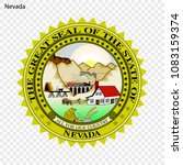 emblem of nevada  state of usa. ... | Shutterstock .eps vector #1083159374