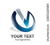 initial letter v logo template... | Shutterstock .eps vector #1083160484