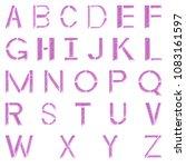 rough damaged pink metal... | Shutterstock . vector #1083161597