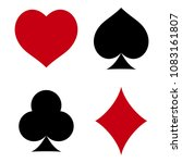 suit of playing cards. hearts ... | Shutterstock .eps vector #1083161807