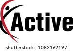 active fitness gym logo | Shutterstock .eps vector #1083162197