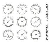 set of monochrome icons with... | Shutterstock .eps vector #1083166265